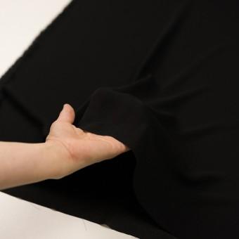 シルク×無地(ブラック)×ジョーゼット_イタリア製 サムネイル5