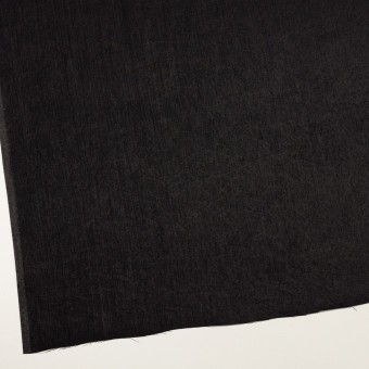 コットン&ポリエステル×無地(ブラック)×かわり織 サムネイル2