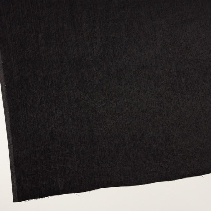 コットン&ポリエステル×無地(ブラック)×かわり織 イメージ2