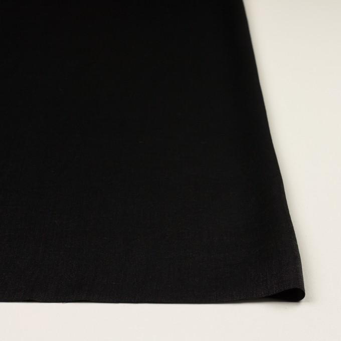 コットン&ポリエステル×無地(ブラック)×かわり織 イメージ3