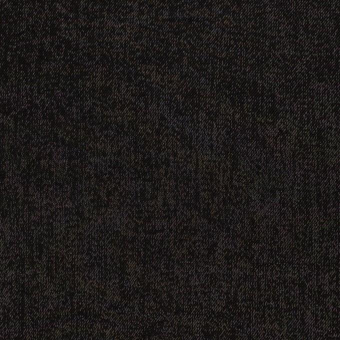 コットン&ポリエステル×無地(ブラック)×かわり織 イメージ1