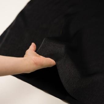 コットン&ポリエステル×無地(ブラック)×かわり織 サムネイル5
