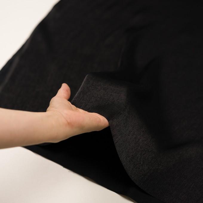 コットン&ポリエステル×無地(ブラック)×かわり織 イメージ5
