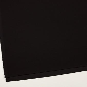 シルク&ウール×無地(ブラック)×バックサテン・かわり織_イタリア製 サムネイル2