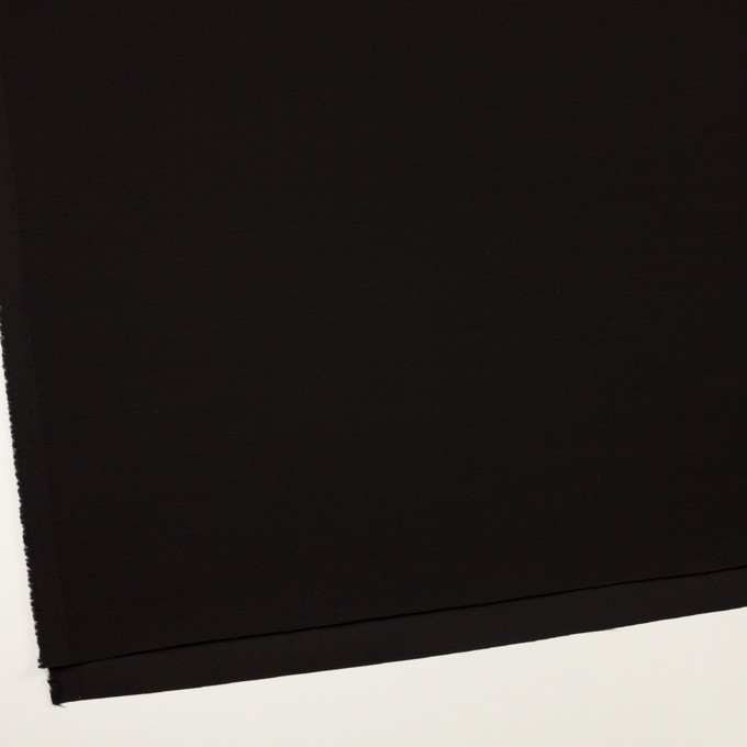 シルク&ウール×無地(ブラック)×バックサテン・かわり織_イタリア製 イメージ2