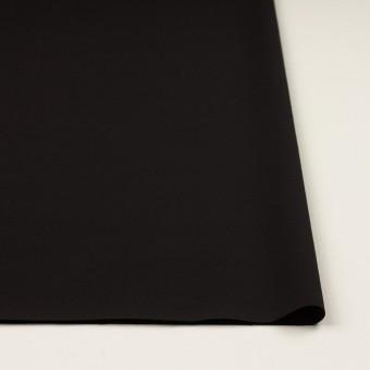 シルク&ウール×無地(ブラック)×バックサテン・かわり織_イタリア製 サムネイル3
