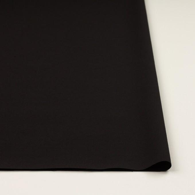シルク&ウール×無地(ブラック)×バックサテン・かわり織_イタリア製 イメージ3