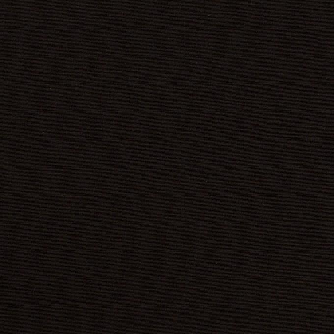 シルク&ウール×無地(ブラック)×バックサテン・かわり織_イタリア製 イメージ1
