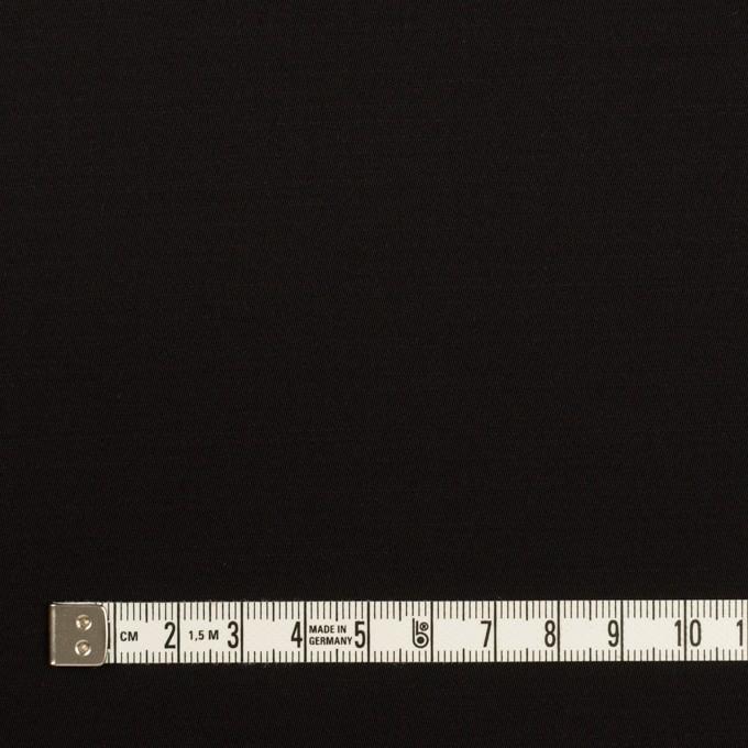 レーヨン&ウール×無地(ブラック)×サテン イメージ4