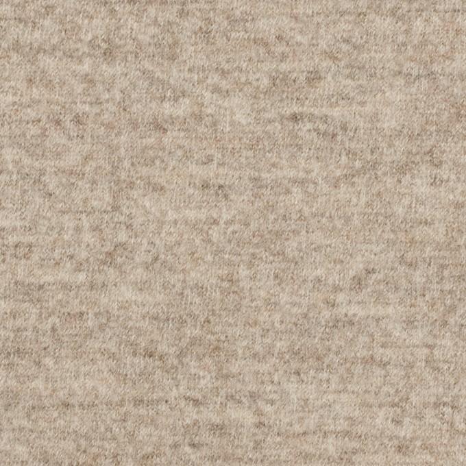 ウール×ミックス(オートミール)×圧縮ニット イメージ1