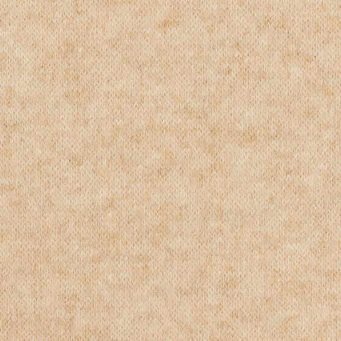 ウール&ナイロン×ミックス(ベージュ)×天竺ニット イメージ1
