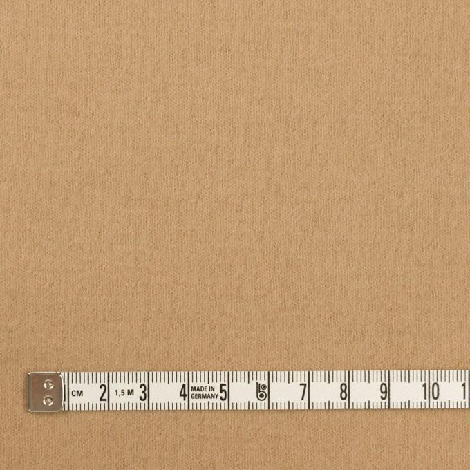 ウール×無地(オークルベージュ)×圧縮ニット イメージ4