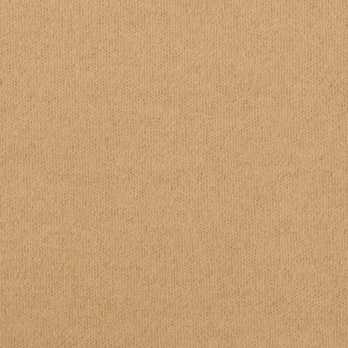 ウール×無地(オークルベージュ)×圧縮ニット イメージ1
