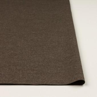 ウール&ナイロン×無地(チャコールブラウン)×圧縮ニット サムネイル3