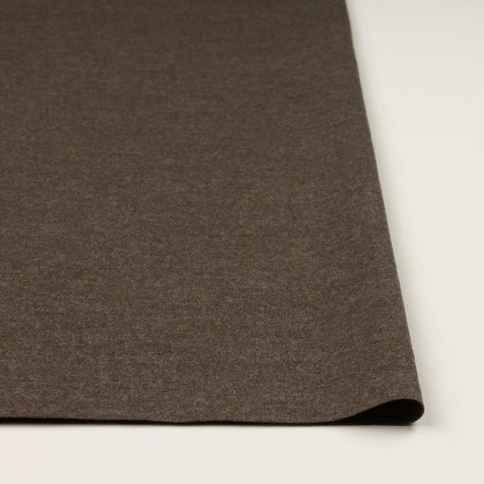 ウール&ナイロン×無地(チャコールブラウン)×圧縮ニット イメージ3