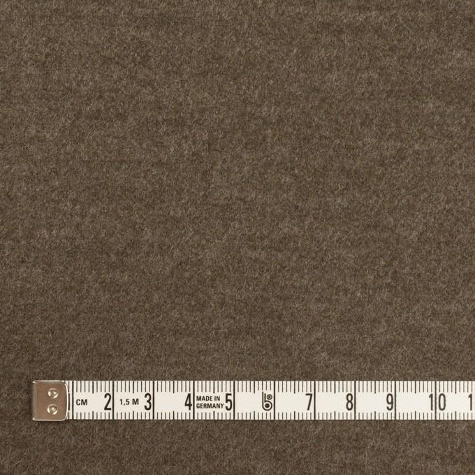 ウール&ナイロン×無地(チャコールブラウン)×圧縮ニット イメージ4
