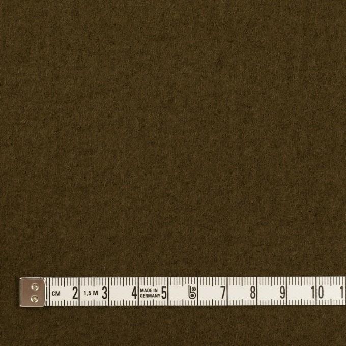 ウール×無地(ダークオリーブ)×圧縮ニット イメージ4