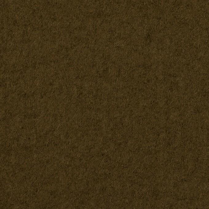 ウール×無地(ダークオリーブ)×圧縮ニット イメージ1