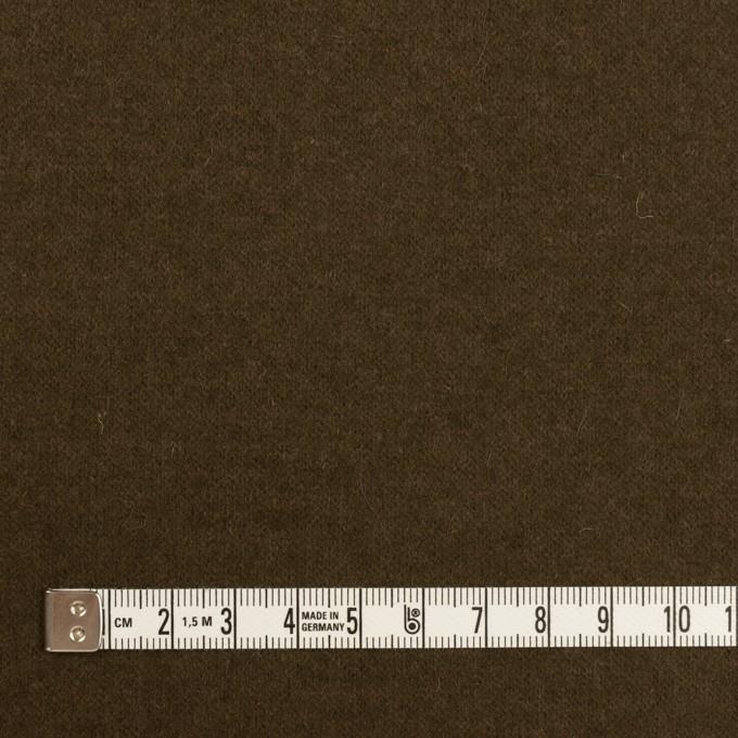 ウール&ナイロン×無地(ダークオリーブ)×天竺ニット イメージ4