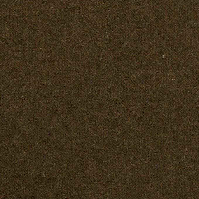 ウール&ナイロン×無地(ダークオリーブ)×天竺ニット イメージ1