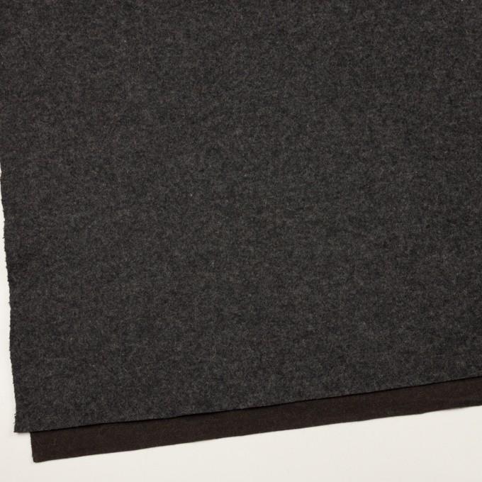 ウール×無地(チャコールグレー&ダークブラウン)×Wニット イメージ2
