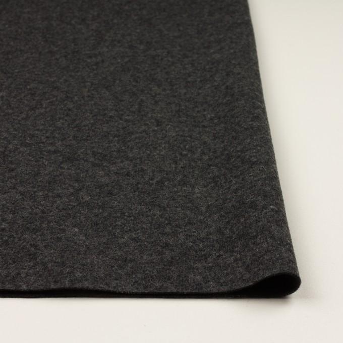ウール×無地(チャコールグレー&ダークブラウン)×Wニット イメージ3