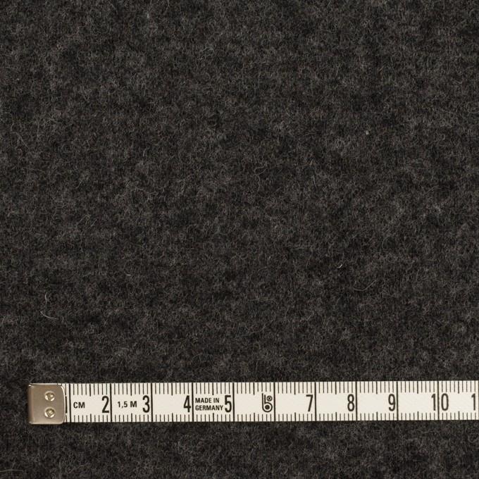 ウール×無地(チャコールグレー&ダークブラウン)×Wニット イメージ4