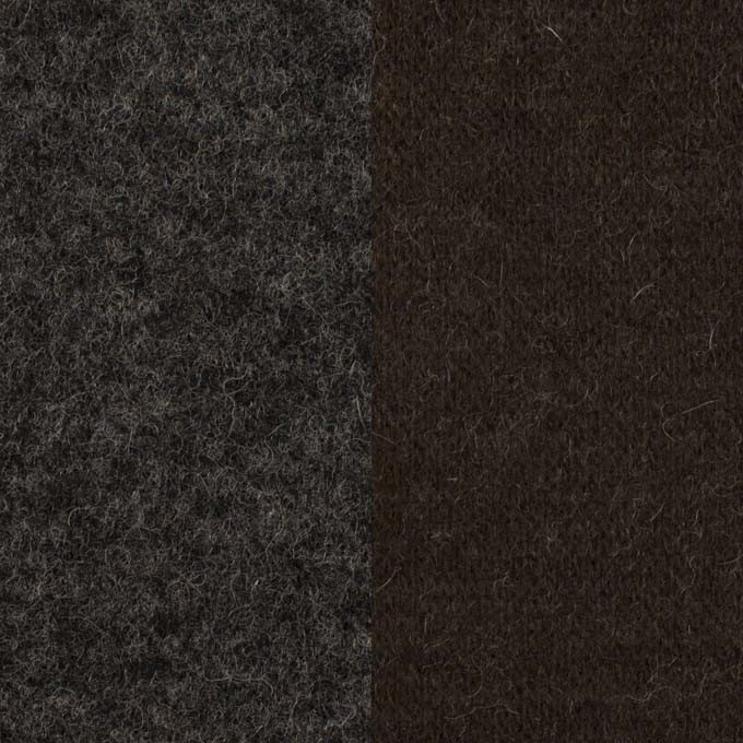 ウール×無地(チャコールグレー&ダークブラウン)×Wニット イメージ1