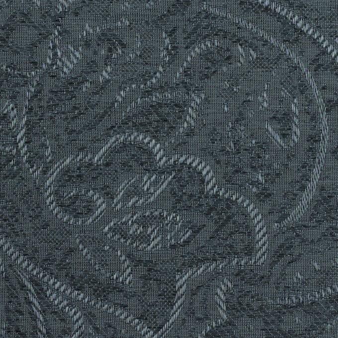 ポリエステル×ペイズリー(ブルーグレー)×ジャガード イメージ1