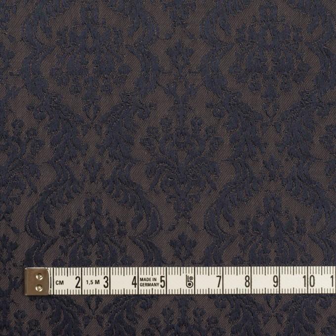 ポリエステル&コットン混×幾何学模様(グレープグレー)×サテンジャガード・ストレッチ イメージ4
