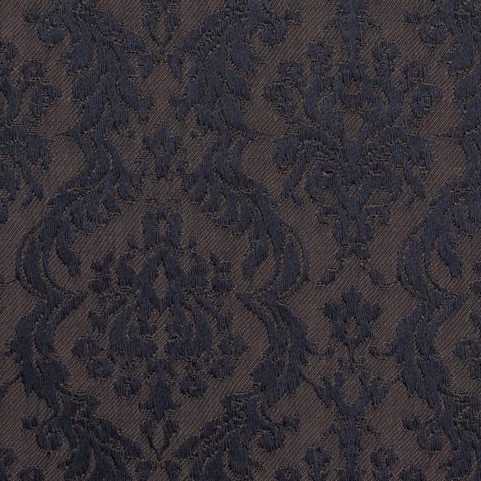 ポリエステル&コットン混×幾何学模様(グレープグレー)×サテンジャガード・ストレッチ イメージ1