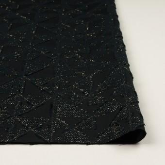 コットン&ポリエステル×トライアングル(ブラック&ゴールド)×ボイルカット・ジャガード サムネイル3