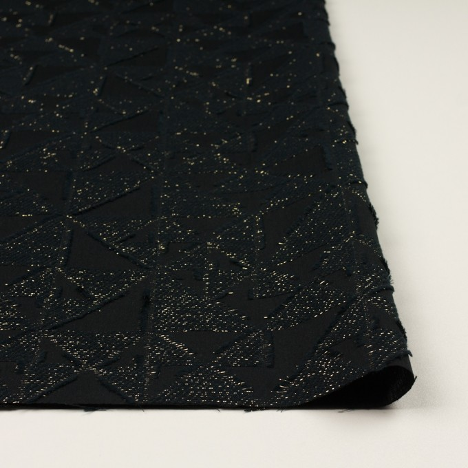 コットン&ポリエステル×トライアングル(ブラック&ゴールド)×ボイルカット・ジャガード イメージ3