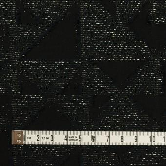 コットン&ポリエステル×トライアングル(ブラック&ゴールド)×ボイルカット・ジャガード サムネイル4
