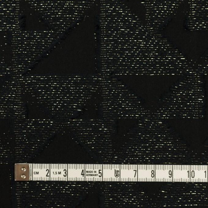 コットン&ポリエステル×トライアングル(ブラック&ゴールド)×ボイルカット・ジャガード イメージ4