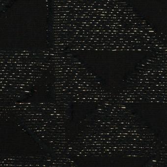 コットン&ポリエステル×トライアングル(ブラック&ゴールド)×ボイルカット・ジャガード