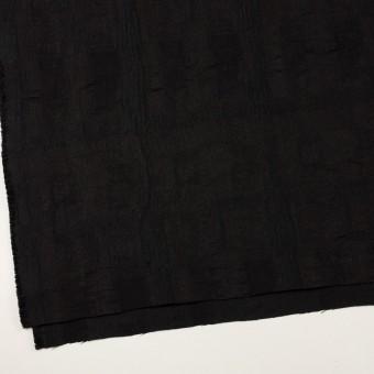 ポリエステル&コットン混×幾何学模様(チャコールブラック)×ジャガード・ストレッチ サムネイル2