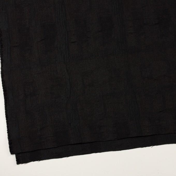 ポリエステル&コットン混×幾何学模様(チャコールブラック)×ジャガード・ストレッチ イメージ2