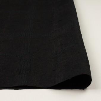 ポリエステル&コットン混×幾何学模様(チャコールブラック)×ジャガード・ストレッチ サムネイル3