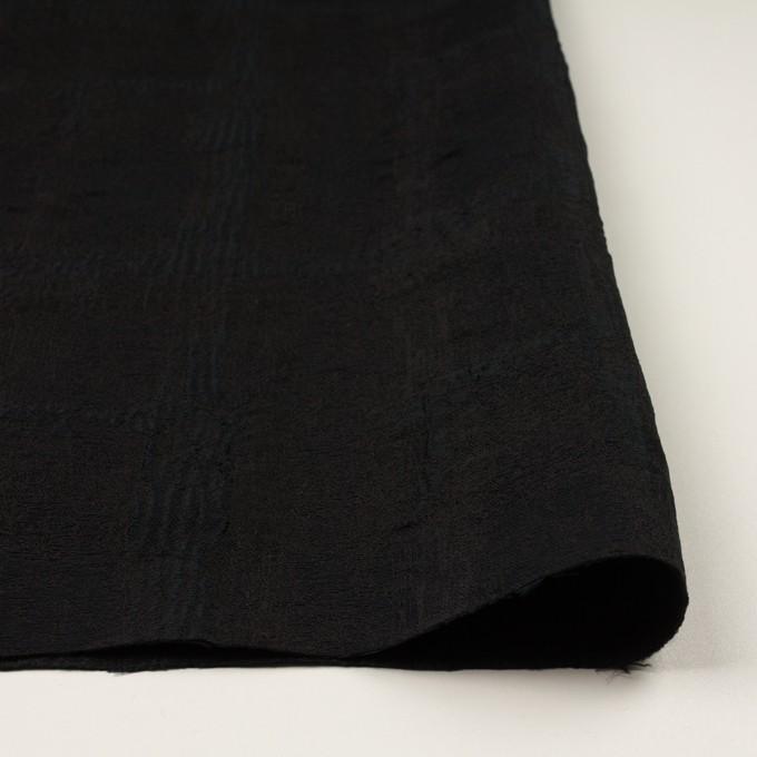 ポリエステル&コットン混×幾何学模様(チャコールブラック)×ジャガード・ストレッチ イメージ3