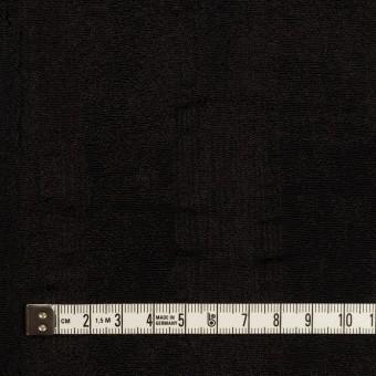 ポリエステル&コットン混×幾何学模様(チャコールブラック)×ジャガード・ストレッチ サムネイル4