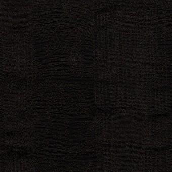 ポリエステル&コットン混×幾何学模様(チャコールブラック)×ジャガード・ストレッチ サムネイル1