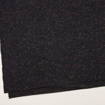 ウール&ポリエステル×ミックス(チャコールブラック)×ループニット_全2色 サムネイル2
