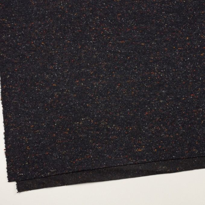 ウール&ポリエステル×ミックス(チャコールブラック)×ループニット_全2色 イメージ2