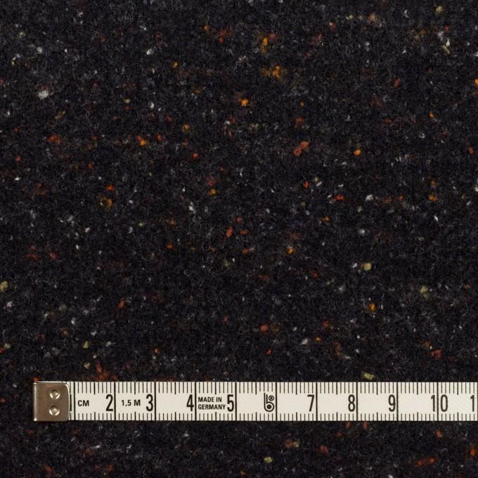 ウール&ポリエステル×ミックス(チャコールブラック)×ループニット_全2色 イメージ4