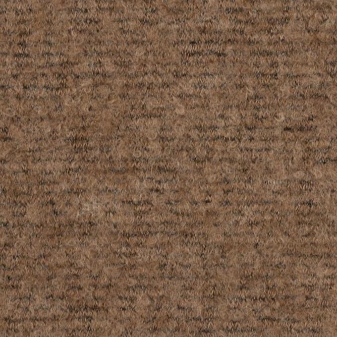 ウール&ナイロン×ミックス(ミルクココア)×ループニット イメージ1