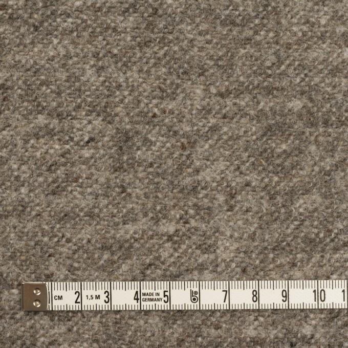 ウール&ポリエステル×ミックス(グレー)×ループニット_イタリア製 イメージ4