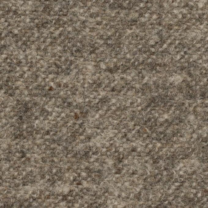 ウール&ポリエステル×ミックス(グレー)×ループニット_イタリア製 イメージ1