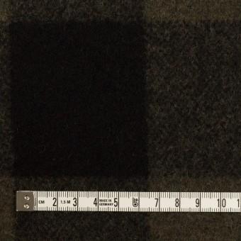 ウール&ナイロン×チェック(カーキ&ブラック)×フラノ(フランネル) サムネイル4