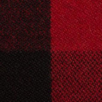 ウール&ナイロン×チェック(レッド&ブラック)×ツイード